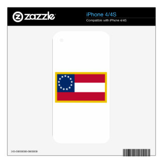 1st  Confederate Flag Skin For The iPhone 4