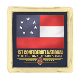 1st Confederate National Gold Finish Lapel Pin