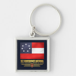 1st Confederate National Keychain