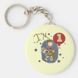 1st Cowgirl Birthday Tshirts and Gifts Key Chains