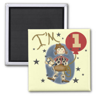 1st Cowgirl Birthday Tshirts and Gifts Magnet