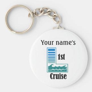 1st Cruise Basic Round Button Keychain