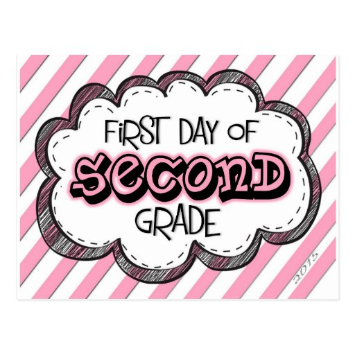 It is a photo of Peaceful First Day of 2nd Grade Printable Sign
