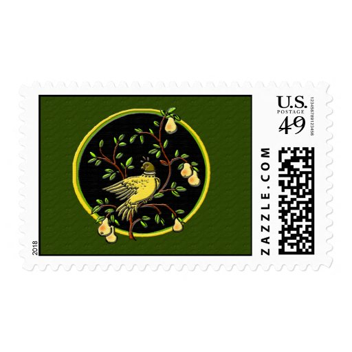 1st Day of Christmas Postage- Green