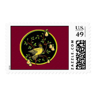 1st Day of Christmas Postage- Red Postage