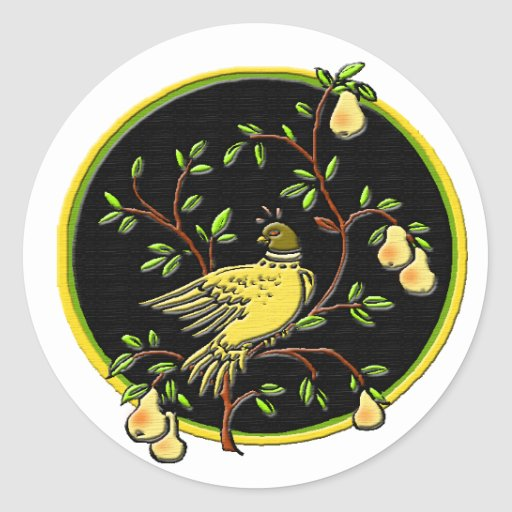 1st Day of Christmas Sticker #1