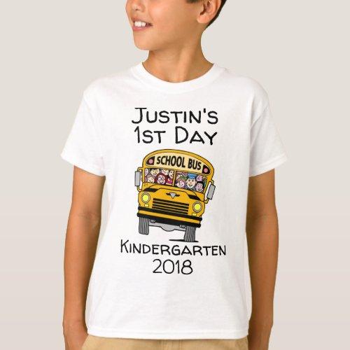 1st day of Kindergarten  any grade T_Shirt