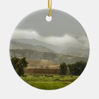 1st Day of Rain Great Colorado Flood Ceramic Ornament