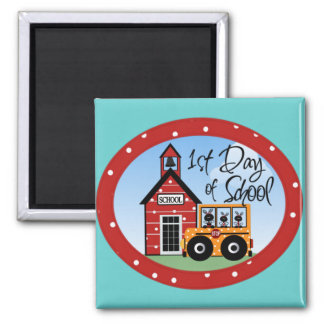 1st Day of School Tshirts and Gifts 2 Inch Square Magnet