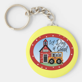 1st Day of School Tshirts and Gifts Keychain
