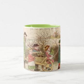 1st December 1879: A set of Christmas sketches Two-Tone Coffee Mug