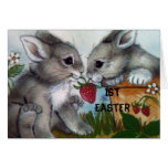 """""""1st EASTER BUNNIE WISHES FOR YOU!"""" Greeting Card"""