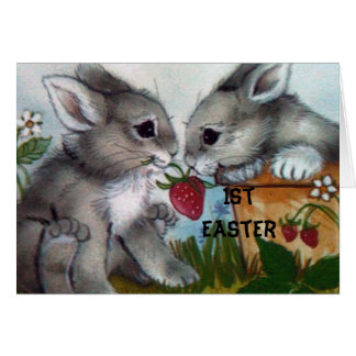 """1st EASTER"" BUNNy WISHES FOR YOU! Card"