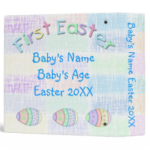 "1st Easter Ethnic Baby Boy 2"" Memory Book Binder"