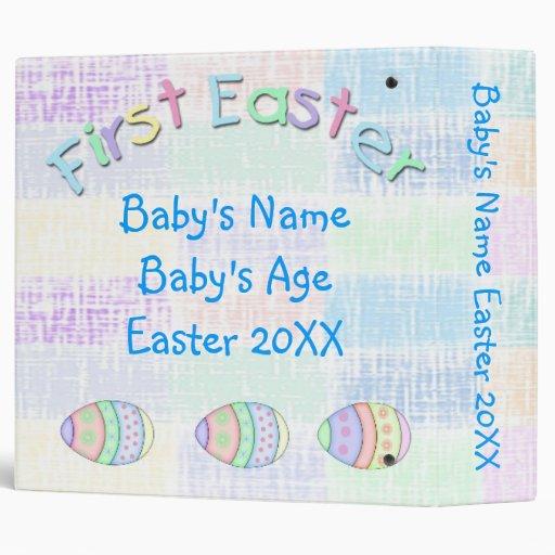 "1st Easter Ethnic Baby Boy 2"" Memory Book Binder"
