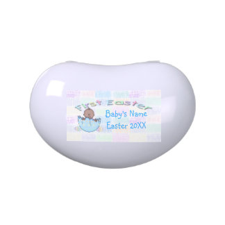 1st Easter Ethnic Baby Boy Jelly Bean Candy Tin
