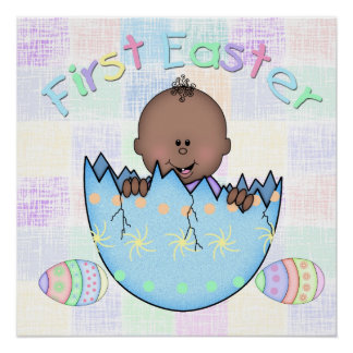 """1st Easter Ethnic Baby Boy Poster (20"""" x 20"""")"""