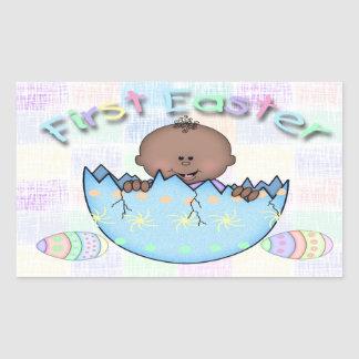 1st Easter Ethnic Baby Boy Rectangle Sticker