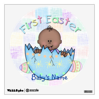 1st Easter Ethnic Baby Boy Round Wall Decal