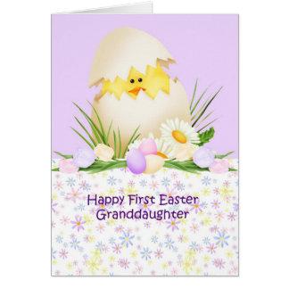 1st Easter Granddaughter Card