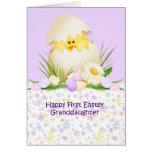 1st Easter Granddaughter Greeting Card