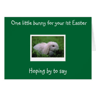 """""""1st EASTER"""" HIPPITY HOPPITY WISHES Greeting Card"""