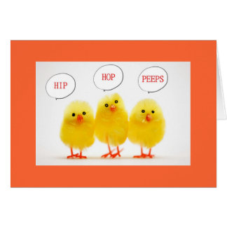 """1st EASTER PEEPS HOPPING BY FOR EASTER FOR YOU"" Card"