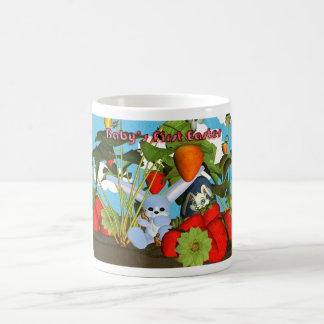 1st easter with bunny chocolate eggs, strawberrie classic white coffee mug