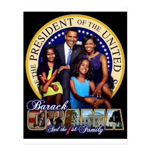 1st Family Barack Obama Postcard