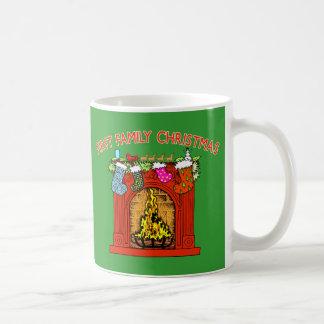 1st Family Christmas with Stockings Coffee Mug