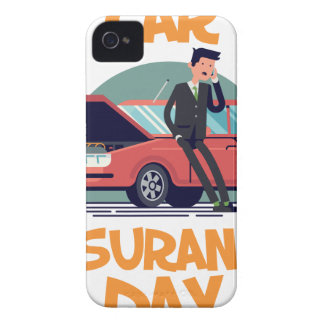 1st February - Car Insurance Day iPhone 4 Case