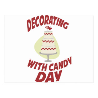 1st February - Decorating With Candy Day Postcard