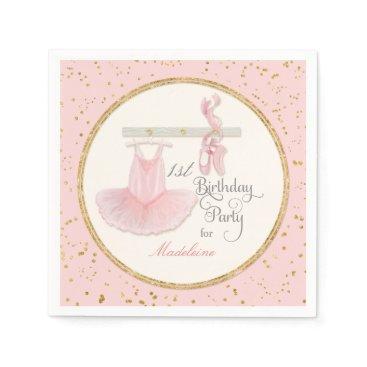 luxuryweddings 1st First Girls Birthday Party Ballerina Tutu Paper Napkin
