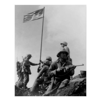 1st Flag Raising On Iwo Jima Poster