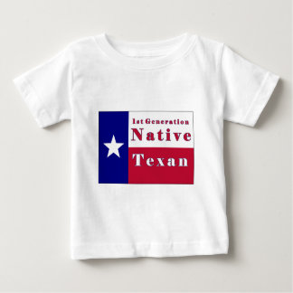 1st Generation Native Texan Flag Baby T-Shirt