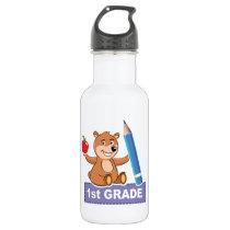 1st Grade - Bear Design Water Bottle