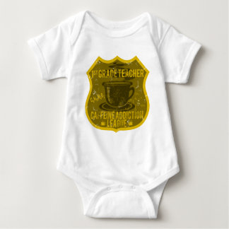 1st Grade Caffeine Addiction League Baby Bodysuit
