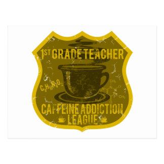 1st Grade Caffeine Addiction League Postcard