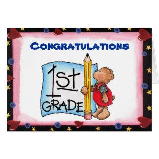 1st grade card