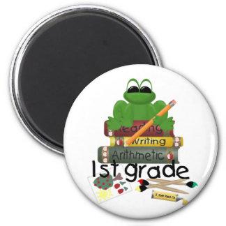 1st Grade Frog School Gift Fridge Magnets