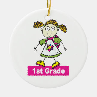 1st Grade Girls Ceramic Ornament