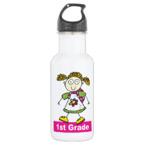 1st Grade Girls Stainless Steel Water Bottle
