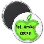 1st. Grade Rocks 2 Inch Round Magnet