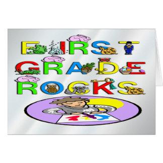 1st Grade Rocks Card