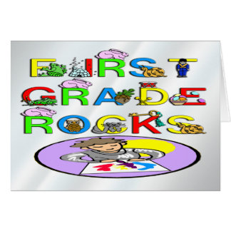 1st Grade Rocks Greeting Card