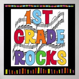 1st Grade Rocks Classroom Poster