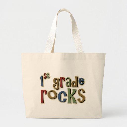 1st Grade Rocks First Jumbo Tote Bag
