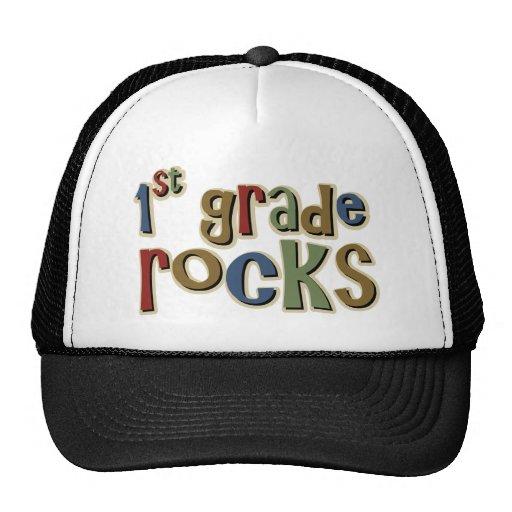 1st Grade Rocks First Trucker Hat