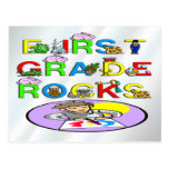 1st Grade Rocks Postcard