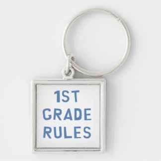 1st Grade Rules Keychain